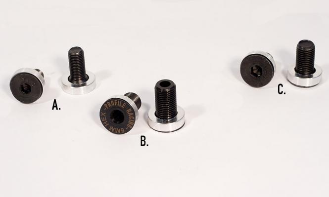 Profile Achs-Schrauben chromo Paar